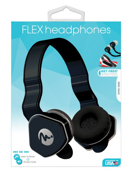 69024 - Black Flex Headphones