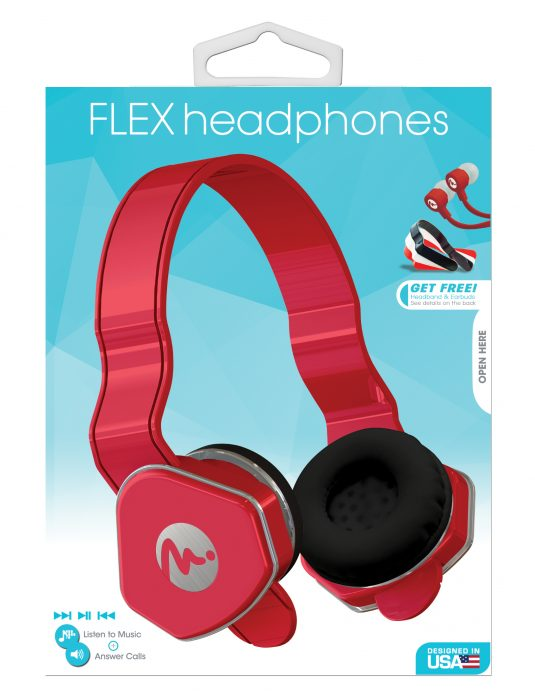 69025 - Red Flex Headphones