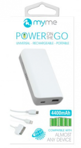 MyMe Power On The Go Battery Backup